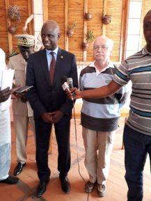 conférence de presse Hamed Semage, Mansour Faye, Erik Orsenna