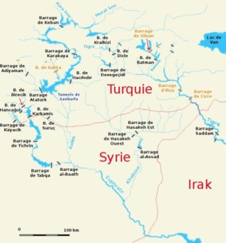 Carto barrages Moyen orient