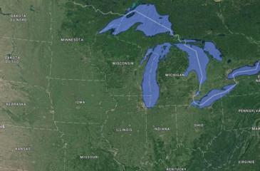Les Grands Lacs d'Amérique du Nord