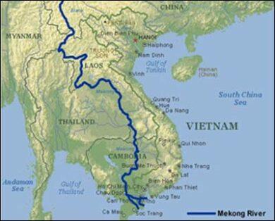 carte fleuve mekong