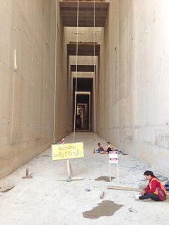 travaux de la passe à poissons - barrage de Xayaburi