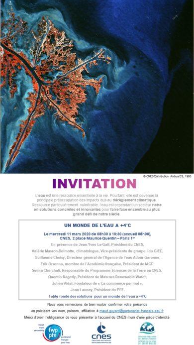 Invitation Public Un monde de l'eau à +4 degrés