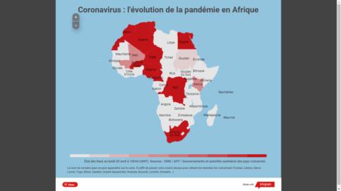 Carte Epidémie en Afrique