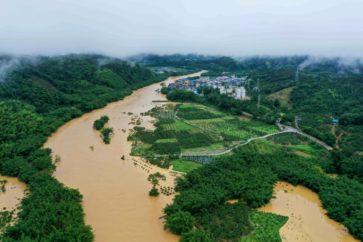 Innondations à Rongan _ source AFP