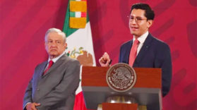 Conf d epresse AMLO et foreign ministry US mexico recah an agreement