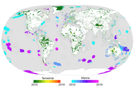 IUCN report increase of protected area between 2010 and today