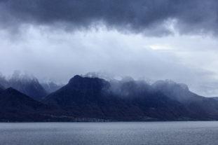 Suisse, Canton du Valais, Saint Gingolph et le Lac Leman depuis Montreux