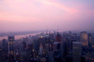Vue depuis le sommet de l'empire state building dans le quartier de Manhattan, ville de New YorkNew York - USA